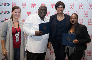 DDC staff and members with Mayor Bowser