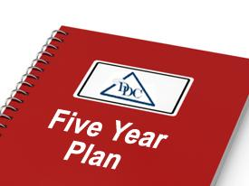 "graphic if report with text ""Five Year Plan"""